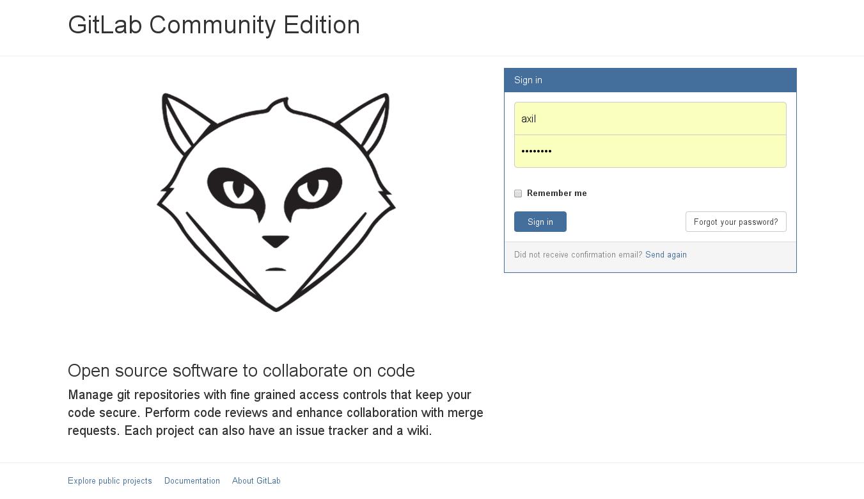 Custom GitLab login page